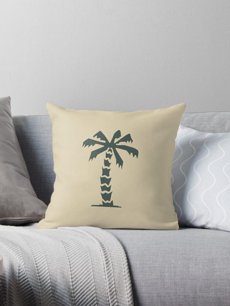 afrika korps palm tree throw pillow by tyrannus redbubble