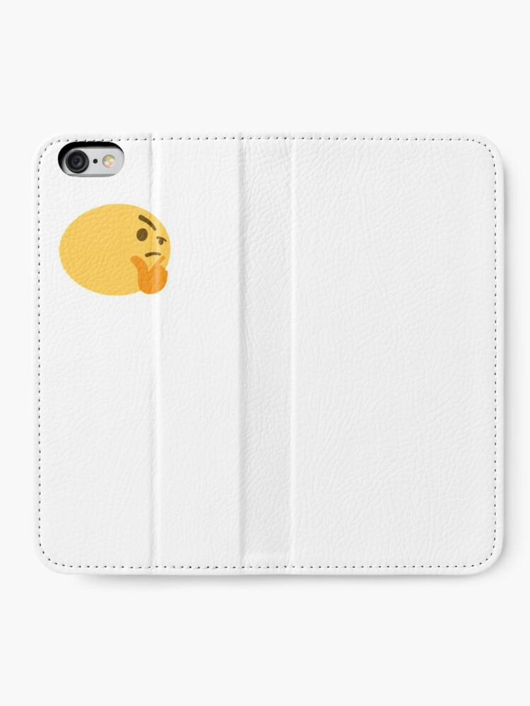 Fat Thinking Emoji Iphone Wallet By Stertube Redbubble