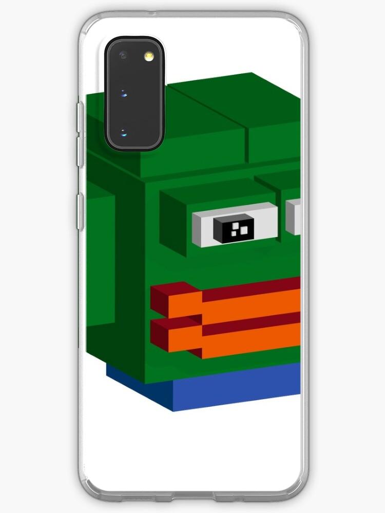 Pepe Rare Happy Pepe Meme In Voxel Graphic Case Skin For