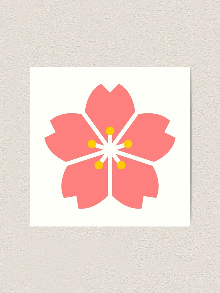 Impression Artistique Dessin Anime Simple Fleur De Cerisier Sakura Par Raionkeiji Redbubble