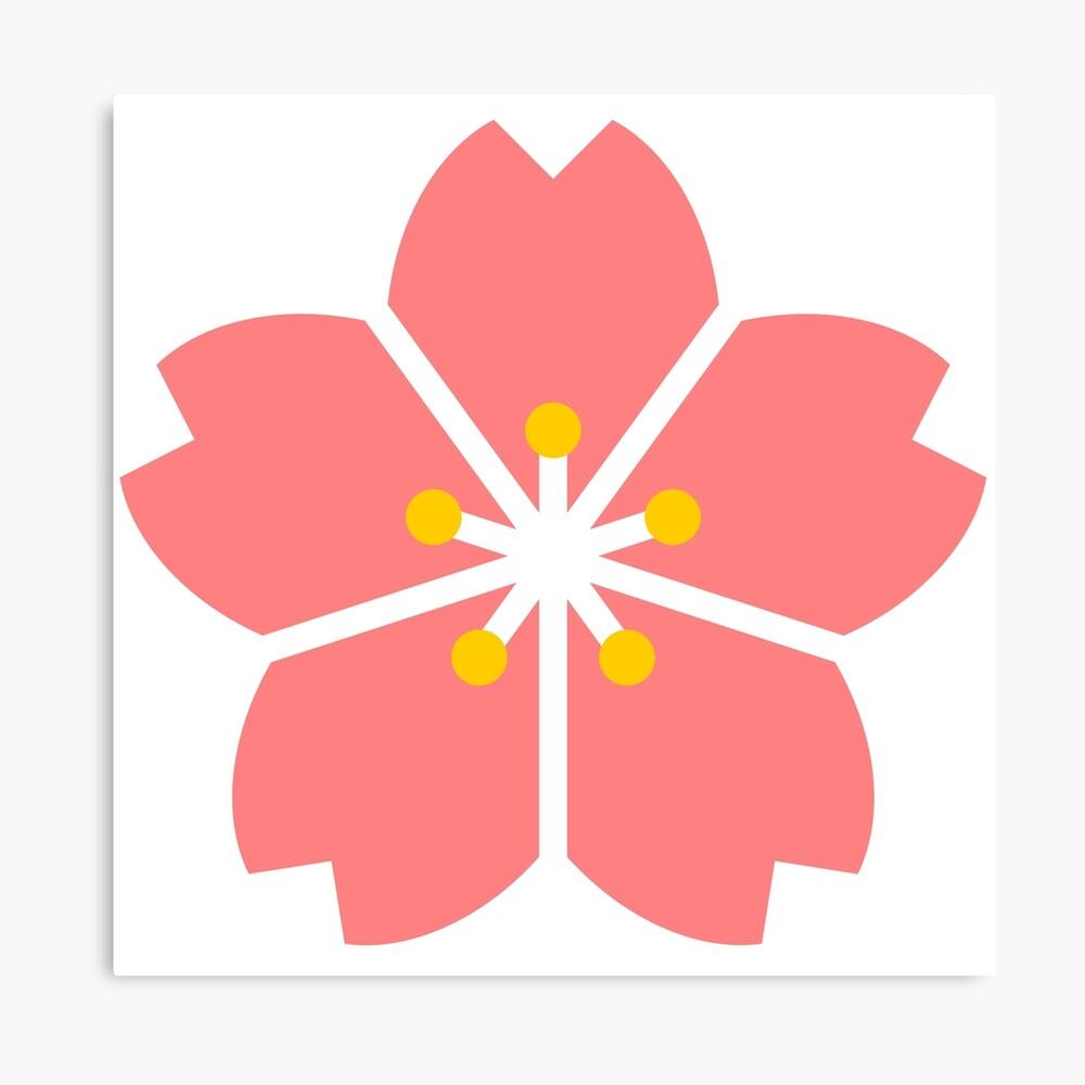 Impression Photo Dessin Anime Simple Fleur De Cerisier Sakura Par Raionkeiji Redbubble