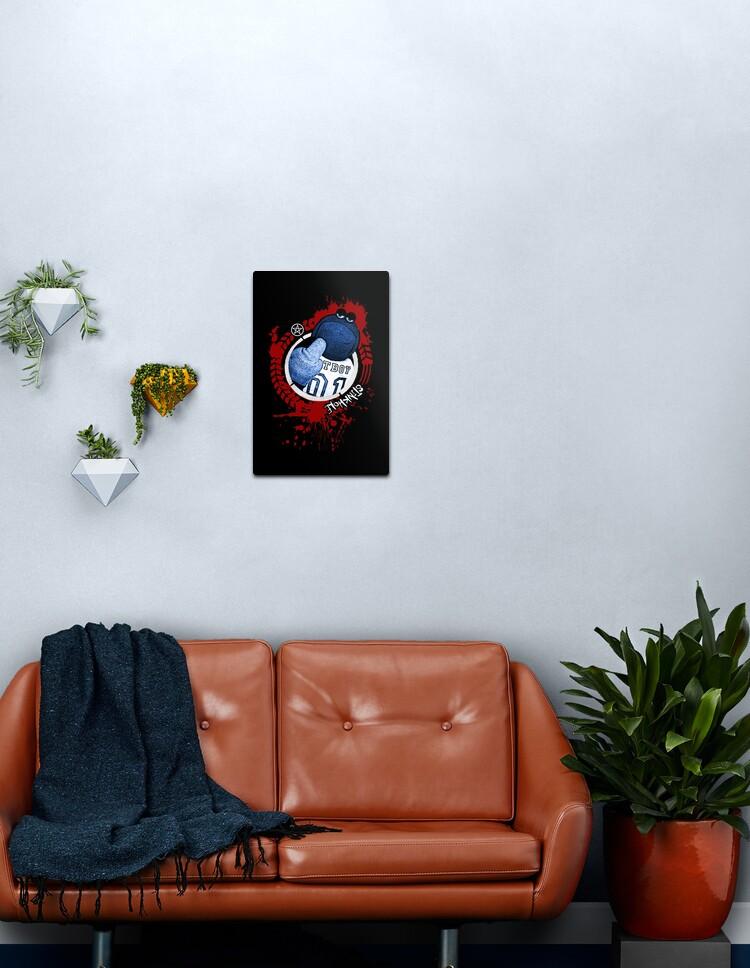 fur tv metal print by bax92 redbubble
