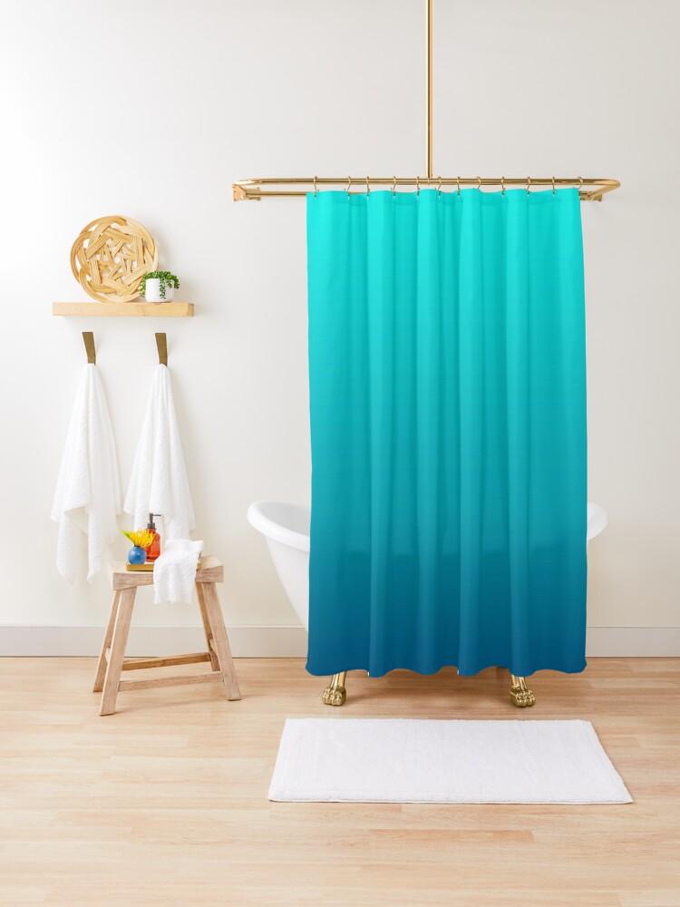 rideau de douche oreiller ombre bleu turquoise par lfang77 redbubble
