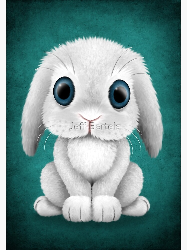Cute White Baby Bunny Rabbit Greeting Card By Jeffbartels Redbubble