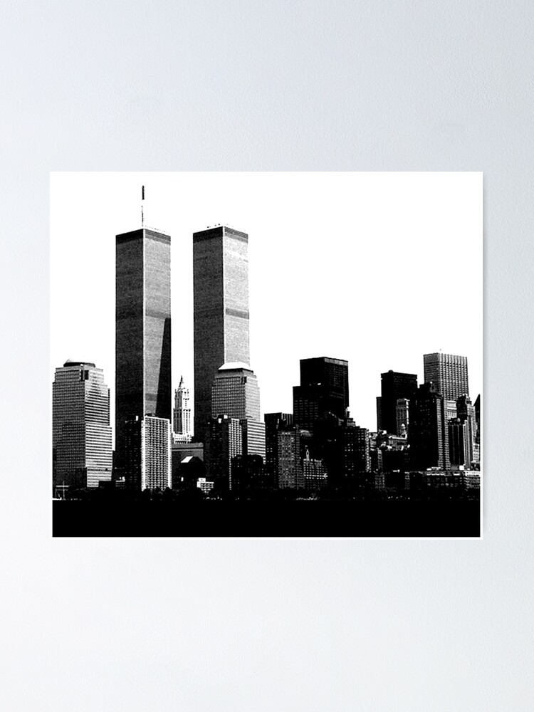 twin towers poster by tinncity redbubble