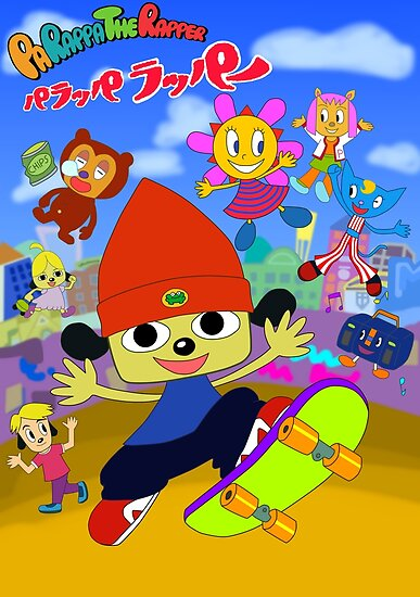 Parappa The Rapper Anime Poster Poster By Assassinhedgie Redbubble