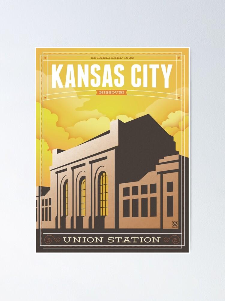 kansas city union station poster by circalitho redbubble