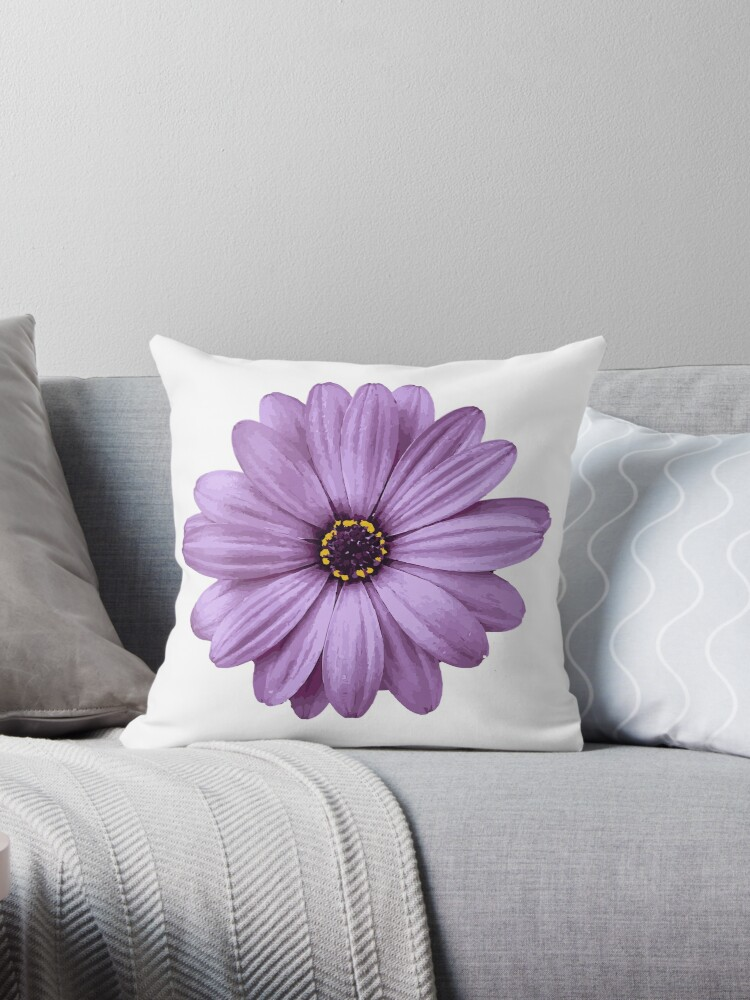 beautiful natural purple flower floral organic wholesome nature throw pillow by uptownmatt91 redbubble