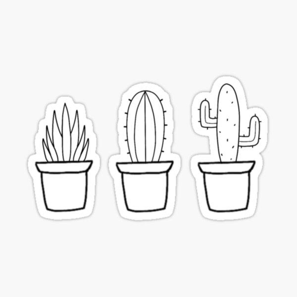 3 Cutie Plants Sticker By Nutellalover15 Redbubble