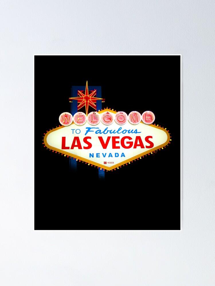 welcome to fabulous las vegas poster von sauher redbubble