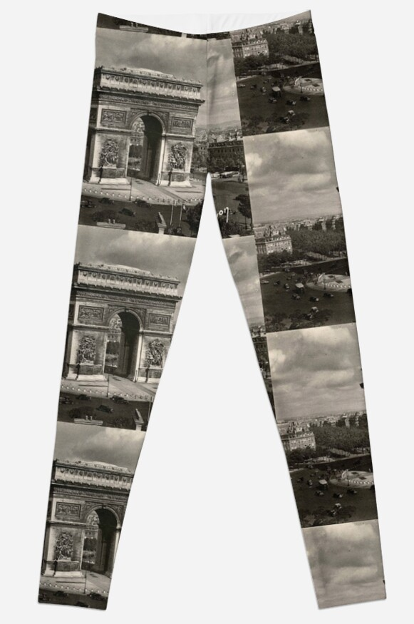 Paris vintage Arc de Triomphe 1943 Leggings by stine1 on Redbubble