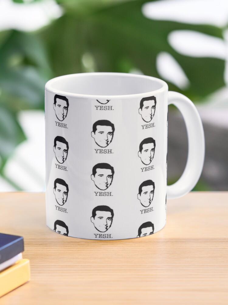 Michael Scott The Office Tv Show Yesh Black White Mug By Starkle