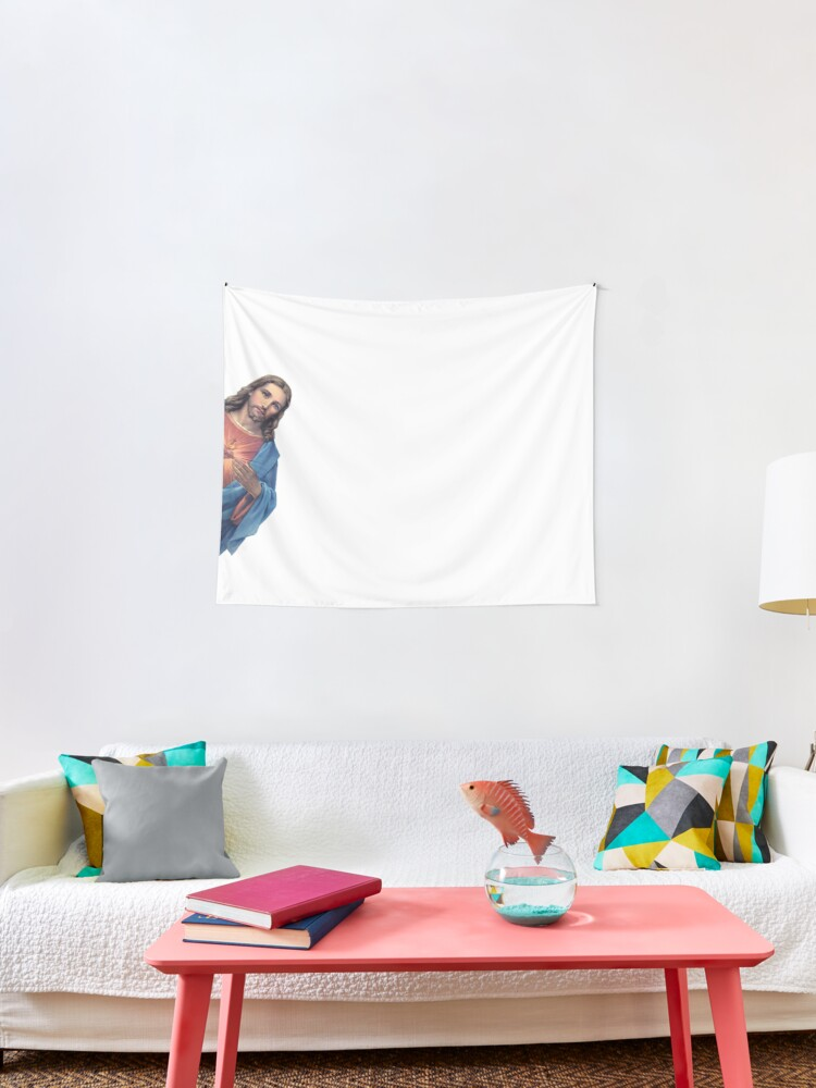 Jesus Is Watching You Meme Tapestry By Ghjura Redbubble