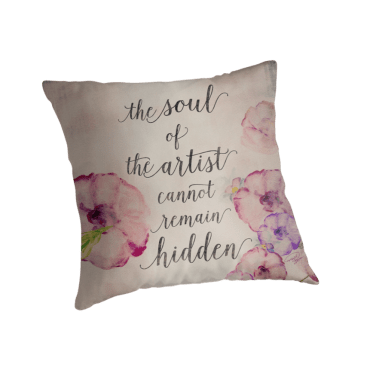 The Soul of The Artist Pillow by WOCADO