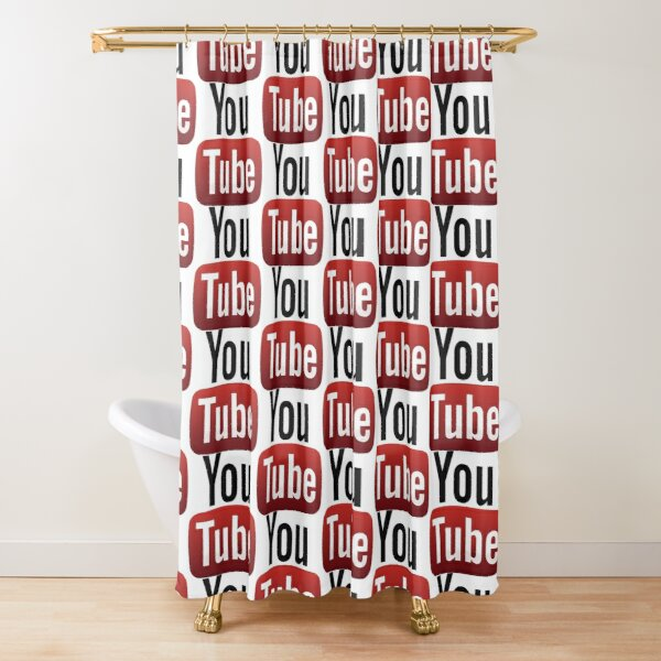 youtube shower curtain by thibow redbubble