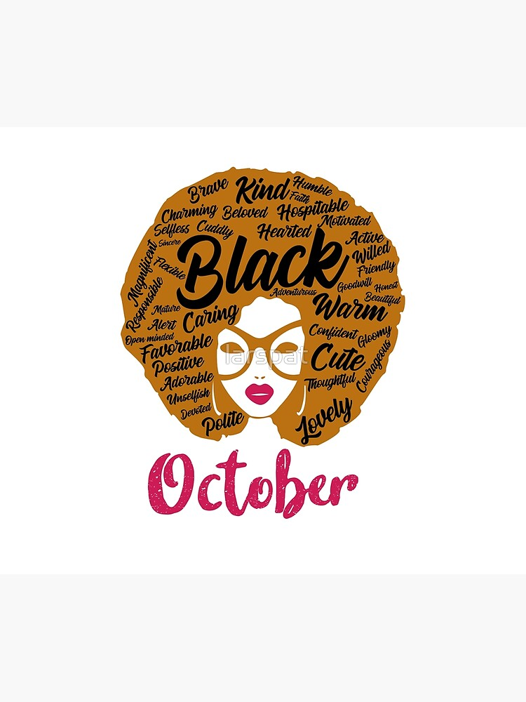 Black Queens Are Born In October T Shirt Gift Tee African American Woman Gift For Women Afro Centric Tee Happy Birthday October Bday Duvet Cover By Larspat Redbubble