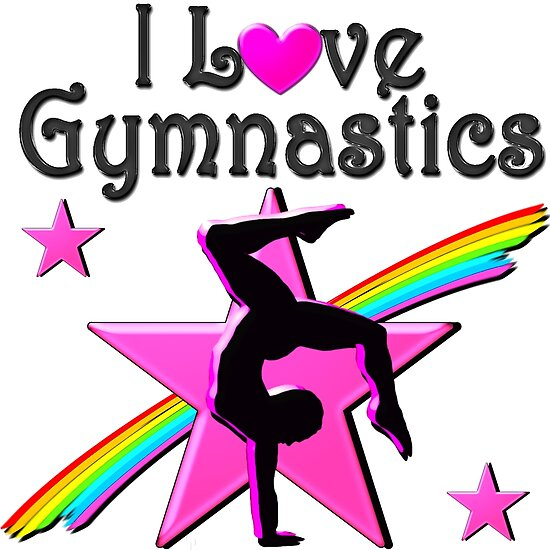 """Download """"INSPIRATIONAL I LOVE GYMNASTICS DESIGN"""" Posters by ..."""