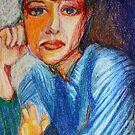 Carmel - Portrait Of A Woman In A Blue Dress