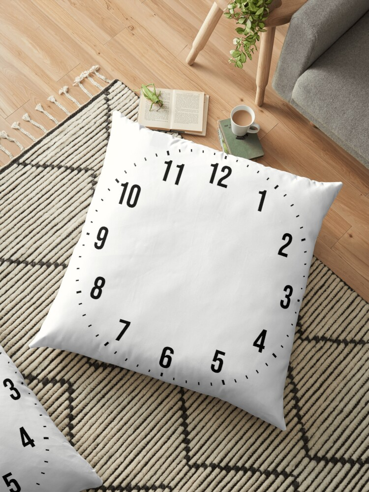 create personalize design your own custom wall clock floor pillow by martstore redbubble