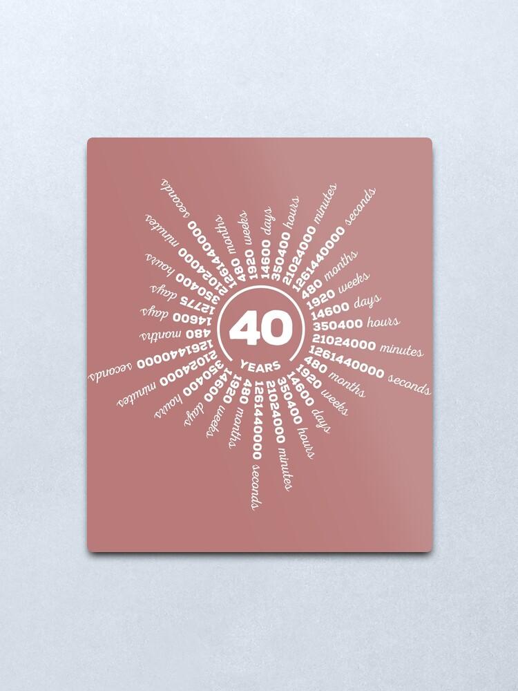 Originelles Geschenk Zu 40 Hochzeitstag