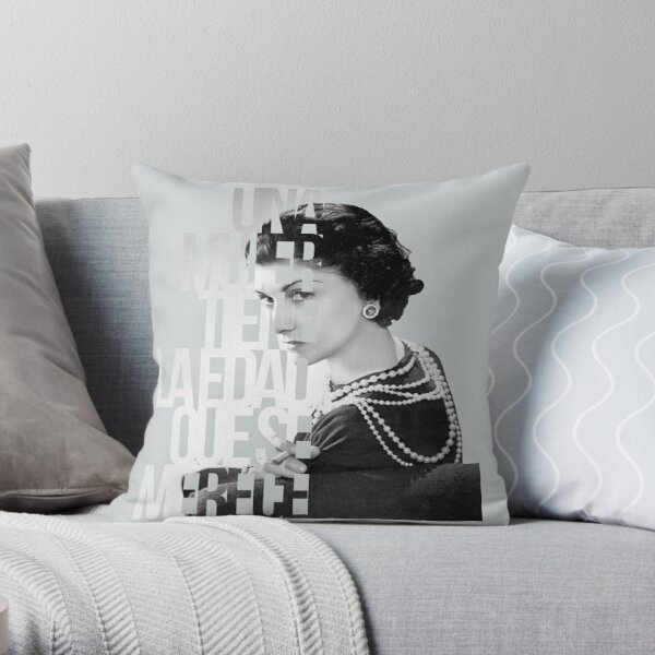 coco chanel and poiret throw pillow by clonefashion redbubble