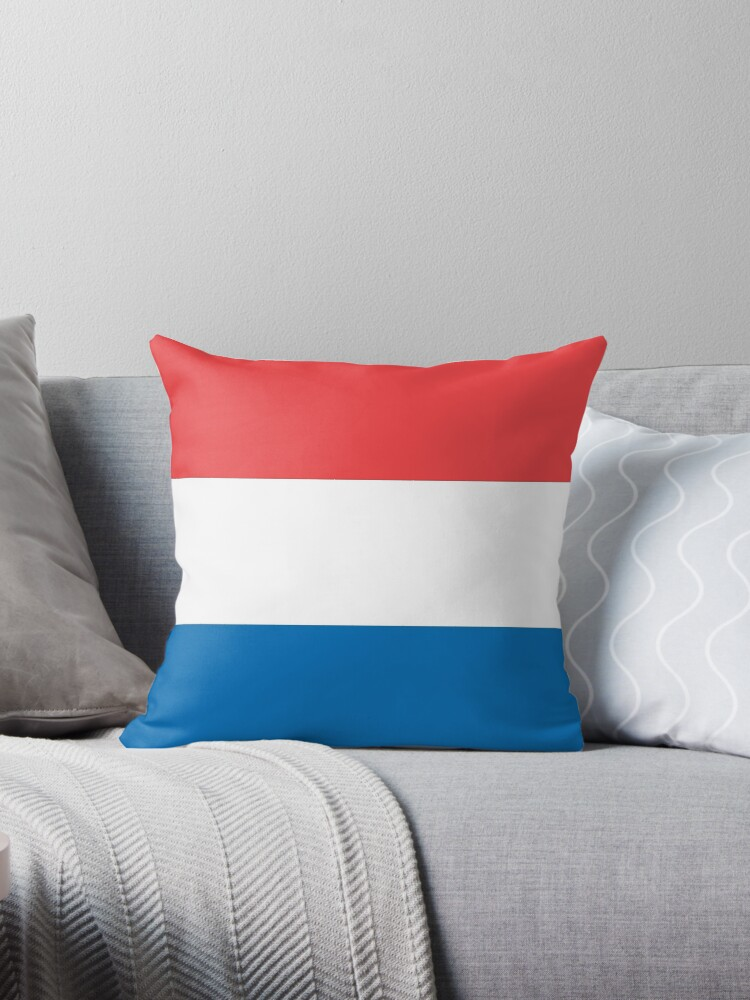 dutch flag throw pillow by smaragdas redbubble