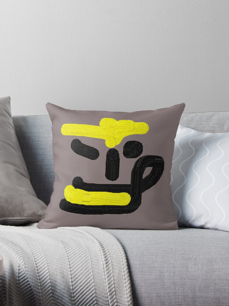 put color on your face throw pillow by jjmivi redbubble