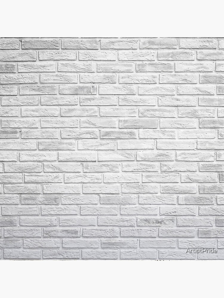 White Exposed Brick Wall Art Board Print By Artistpride Redbubble