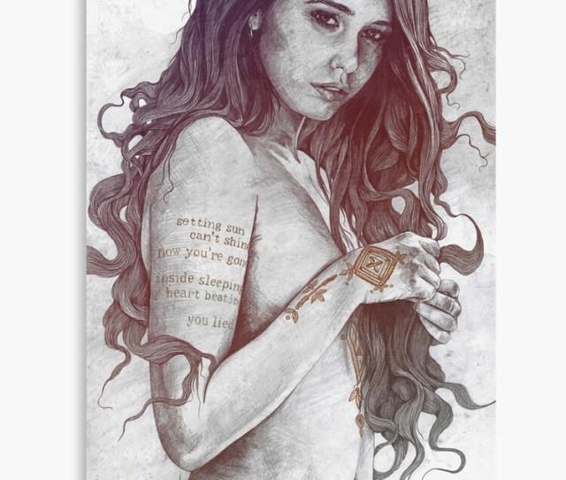 You Lied Rainbow Naked Girl With Mandala Mehndi Tattoos Erotic Drawing Canvas