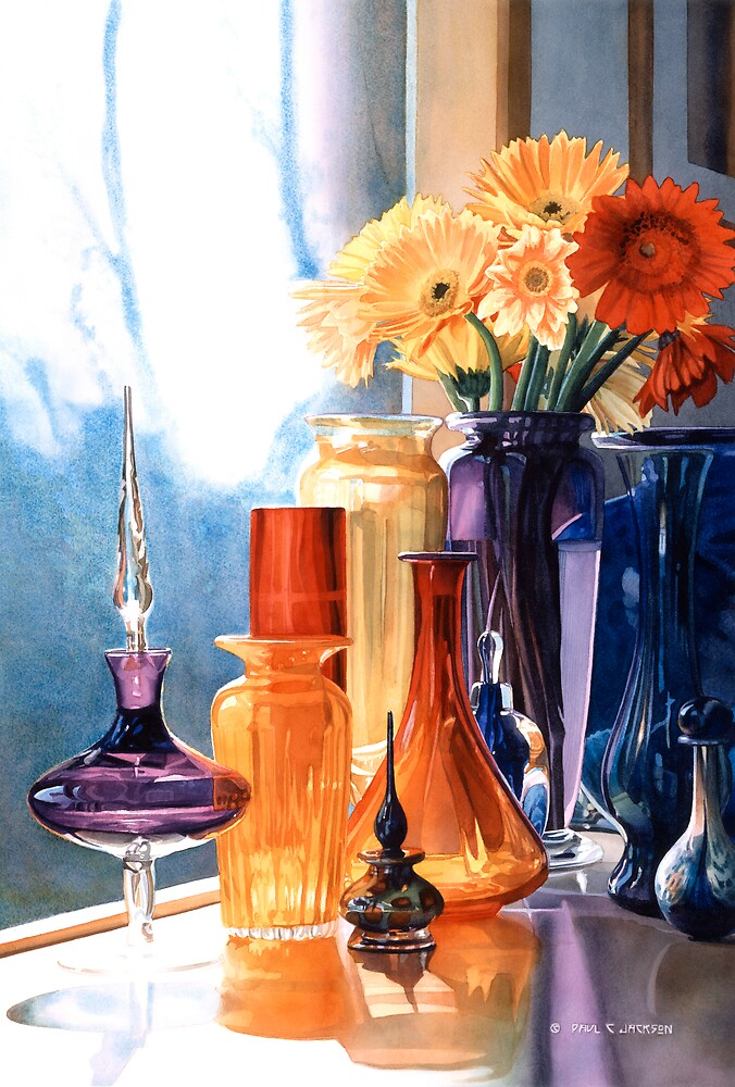 Jewels Of The Czar Art Glass Watercolor By Paul