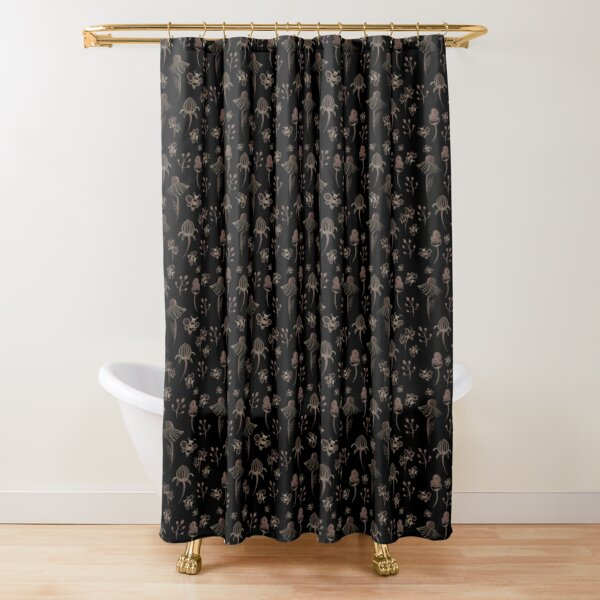 enchanted garden shower curtains redbubble