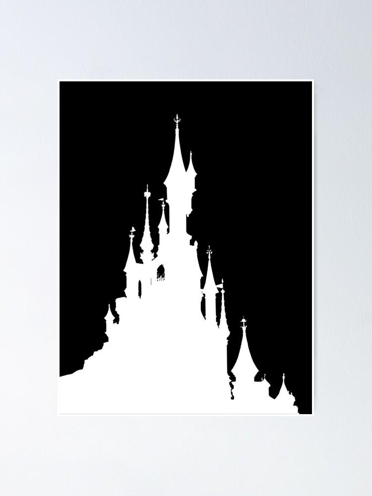 Poster Magic Castle Silhouette Paris Par Fandomtrading Redbubble