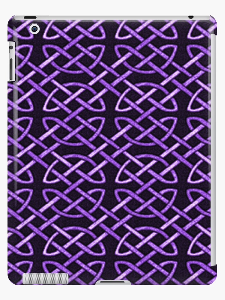 Purple Celtic Knots Pattern Ipad Case Skin By Havendesign Redbubble