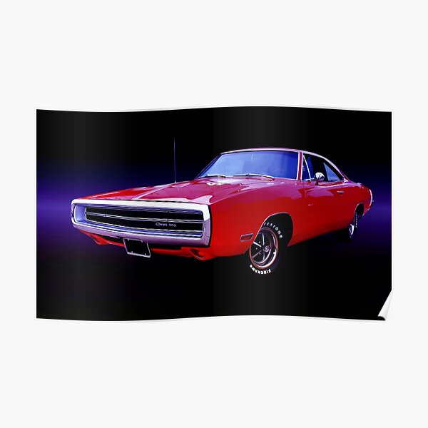 1970 dodge charger 500 poster by burtney redbubble