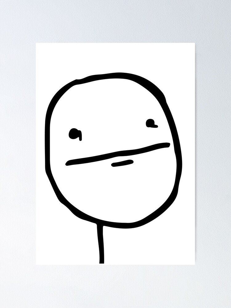 Troll Face Le Me Poker Face With Stoic Face And No Smile Not