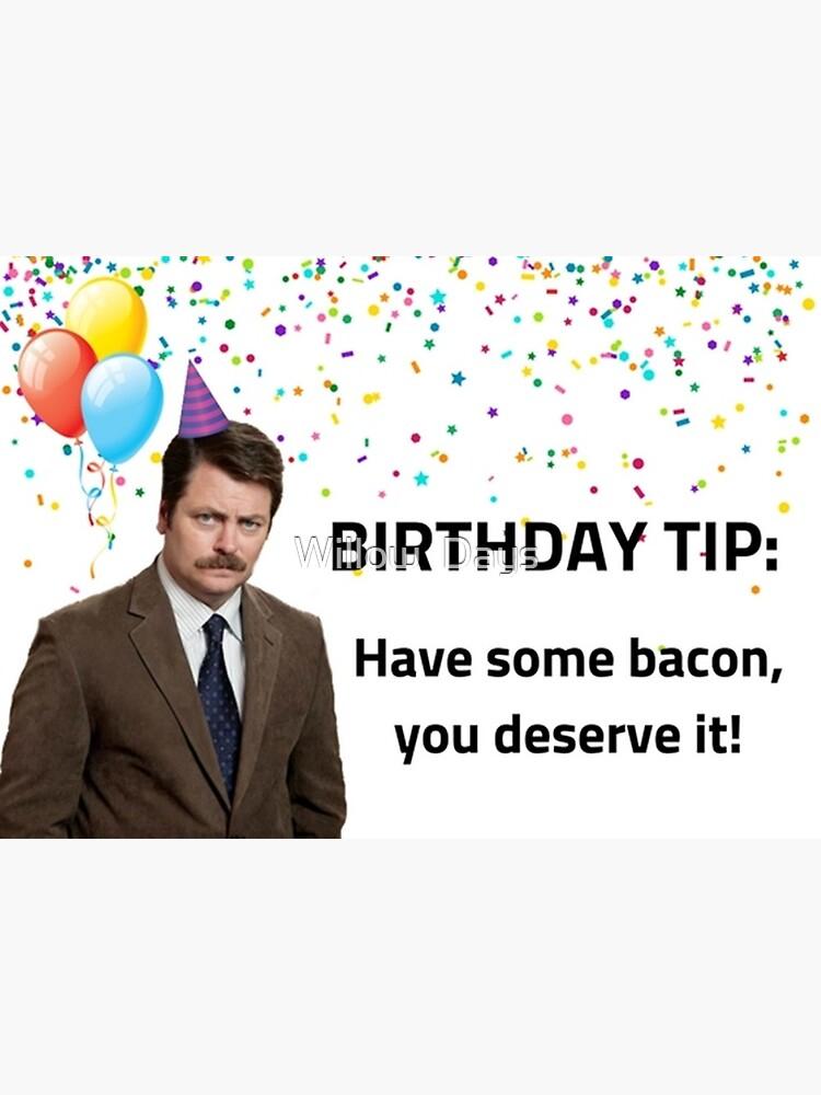 Parks Und Rec Ron Swanson Geburtstagskarte Meme Grusskarten Grusskarte Von Avit1 Redbubble