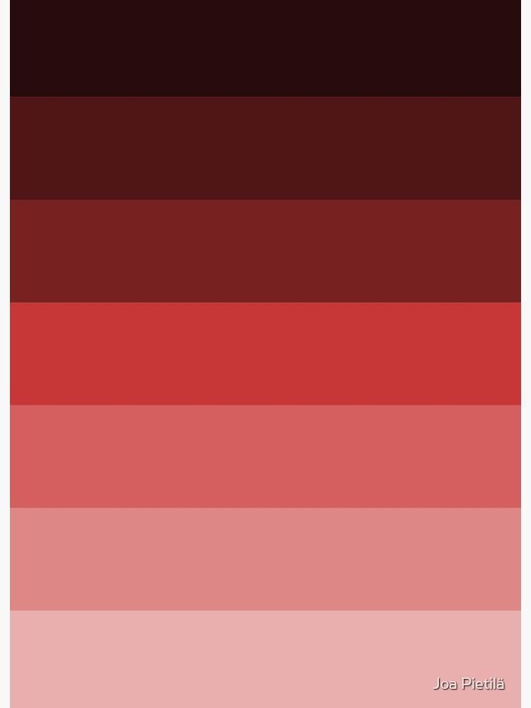 Impression Rigide Palette De Couleur Rouge Par Fatdongman Redbubble