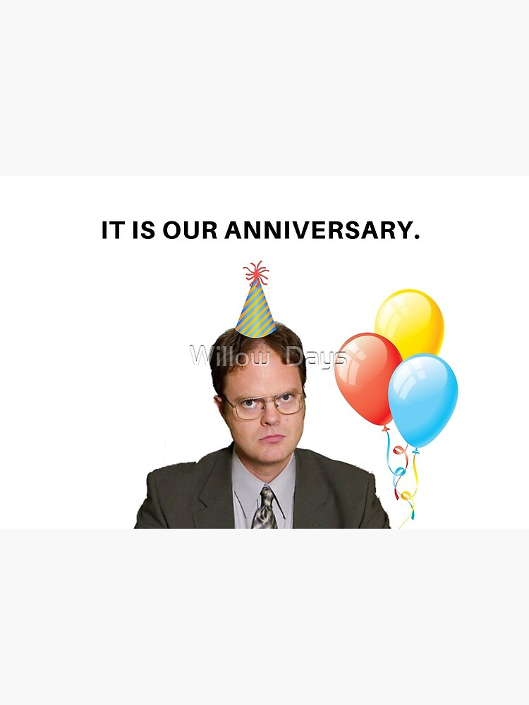 Dwight Schrute Anniversary Card The Office Tv Show Us Meme Greeting Cards Greeting Card By Avit1 Redbubble