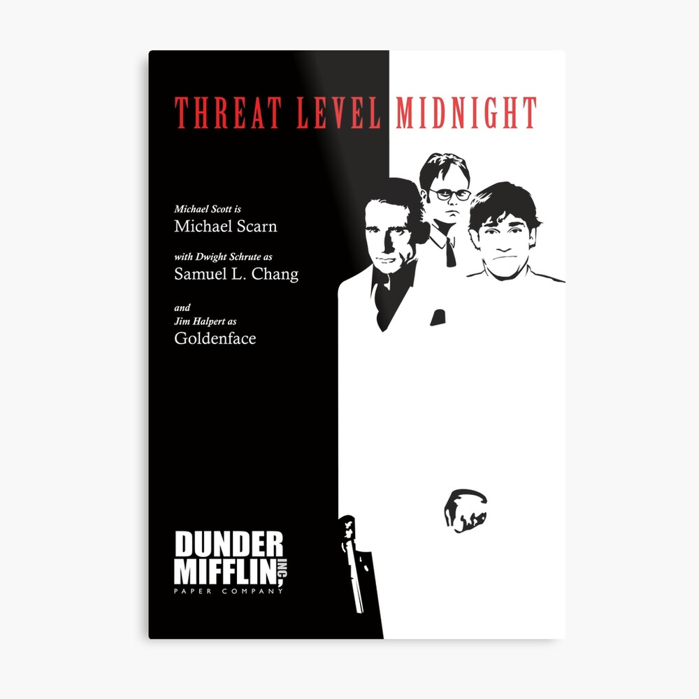 threat level midnight poster the office framed art print by tvandmoviegifts redbubble