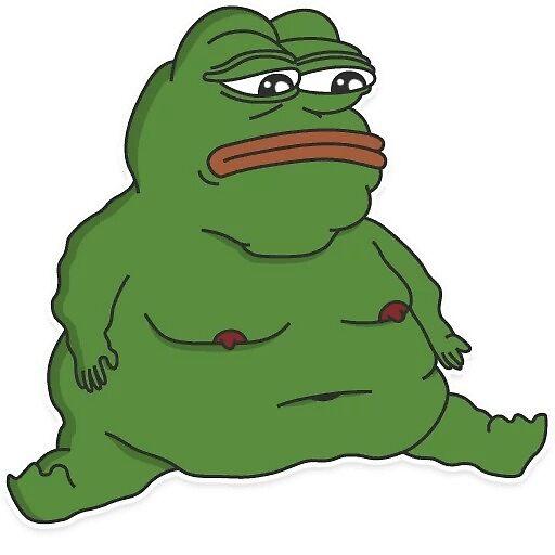 Pepe Fat Emote Aufkleber Von Billnyeisdope Redbubble