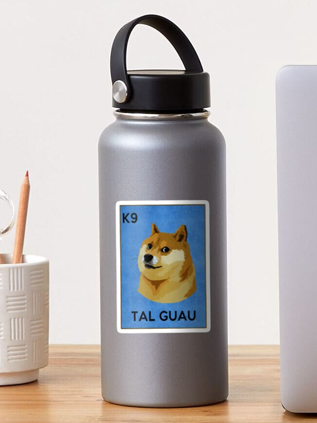Doge Meme Such Wow La Loteria Sticker By Electrovista Redbubble