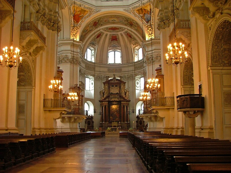 Salzburg Cathedral Austria By Jules572 Redbubble