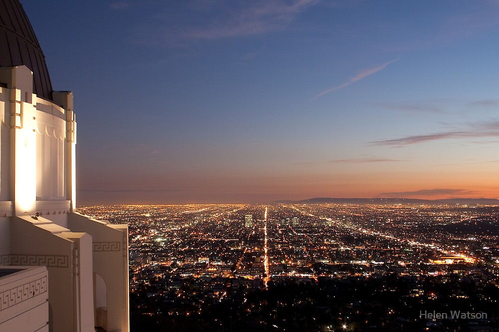 Sunset From Griffith Observatory By Helen Watson