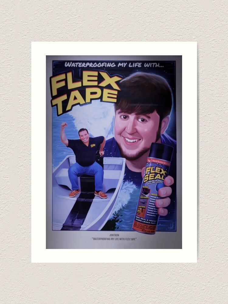Jontron Flex Tape Movie Poster Art Print By Bencova14 Redbubble