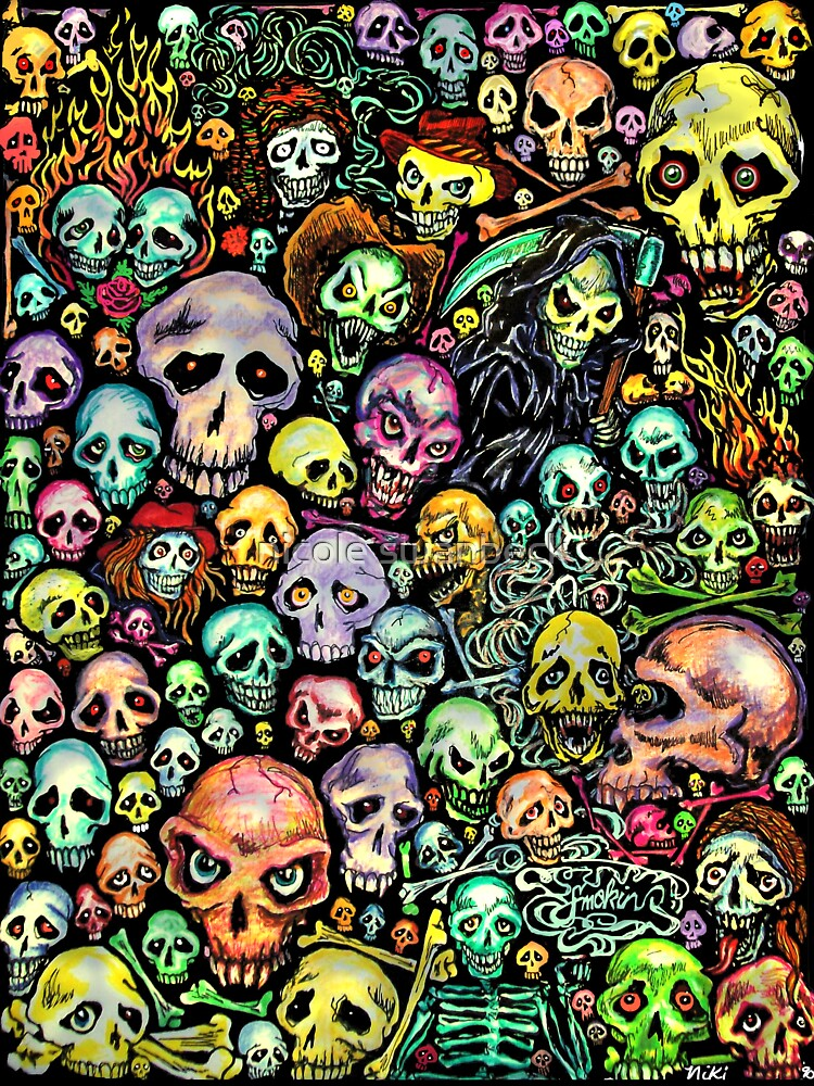 Skull Collage By Nicole Swanbeck Redbubble