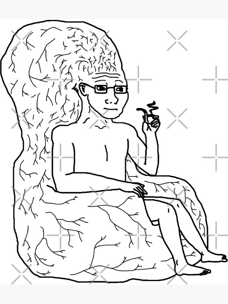 No Brain Wojak Mungfali Brain Meme On Awwmemes Com