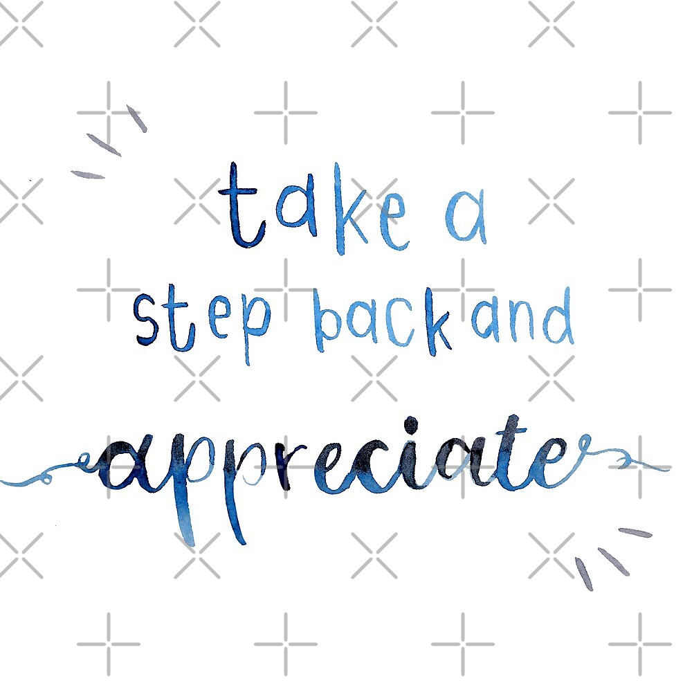 Take A Step Back And Appreciate By Cueckermannart Redbubble