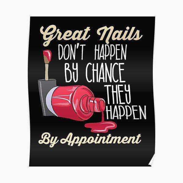 nails salon posters redbubble
