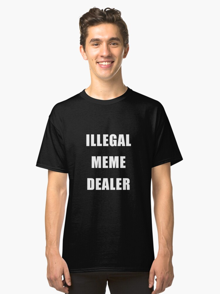 Illegal Meme Dealer Sticker By Jovianslim Redbubble