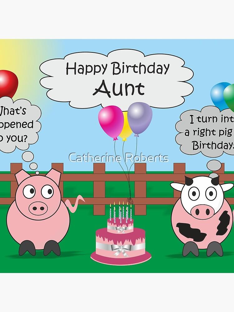 Funny Animals Aunt Birthday Hilarious Rudy Pig Moody Cow Stofftasche Von Cathsam001 Redbubble